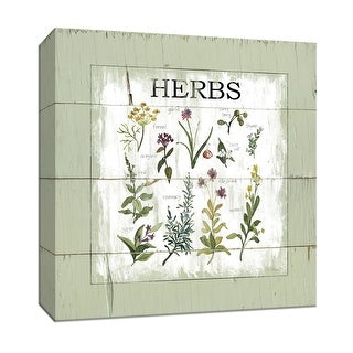 "PTM Images 9-147473  PTM Canvas Collection 12"" x 12"" - ""Shiplap Herbs"" Giclee Herbs Art Print on Canvas"