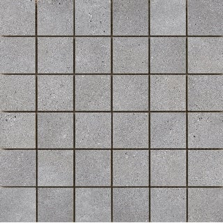 Emser Tile F84ALPH1313MO2  Alpha - Square Mosaic Floor and Wall Tile - Smooth Concrete Visual