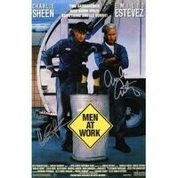Emilio Estevez  Charlie Sheen Dual Men At Work 11x17 Movie Poster