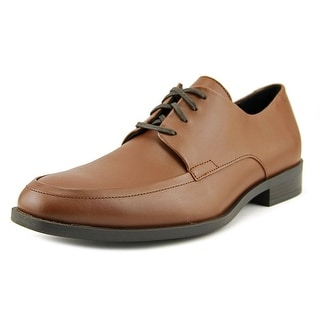 Calvin Klein Draven Men  Apron Toe Leather Tan Oxford