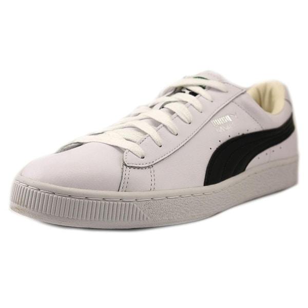 Puma Basket Classic LFS Men Round Toe Leather White Sneakers