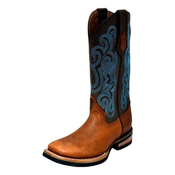 Ferrini Western Boots Womens Rubber Maverick Square Toe Brown