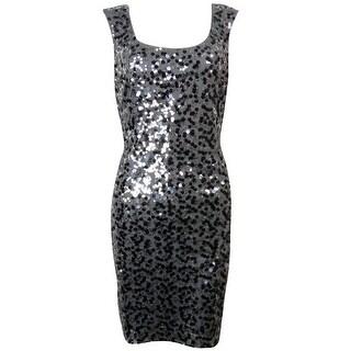 Guess LA Women's Lori Cap Sleeve Sequined Dress
