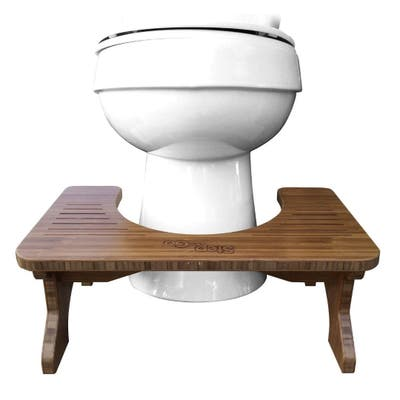 """Step and Go Bamboo Stool Squatty Toilet Potty Aid 7 Inch - Brown/Cherry - 7"""""""