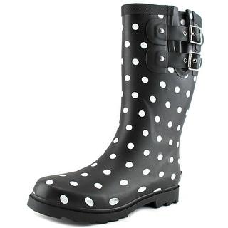 Chooka Downtown Dot Mid Round Toe Synthetic Rain Boot