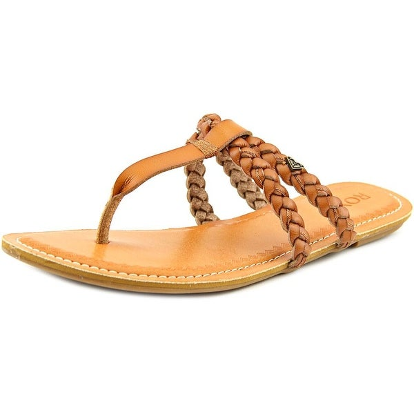 Roxy Giza Women  Open Toe Synthetic Tan Thong Sandal