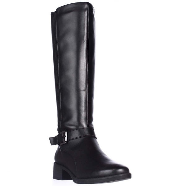 Easy Spirit Nadette Flat Riding Boots, Black