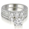 1.75 cttw. 14K White Gold Prong Set Round Cut Diamond Bridal Set - Thumbnail 0