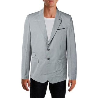 Stone Rose Mens Cotton Heathered Two-Button Suit Jacket
