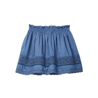 Azul Little Girls Blue Peasant Look Lace Short Skirt