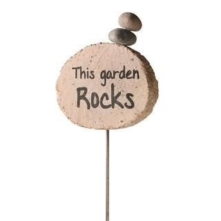 This Garden Rocks Garden Stake - Stacked Stones Cairn