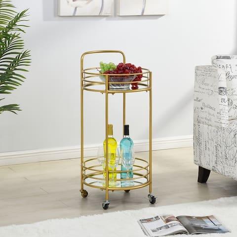 FirsTime & Co. Joliet Round Metal Bar Cart