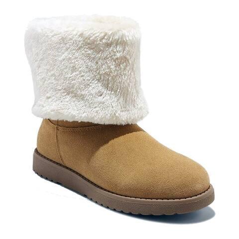 Universal Thread Women's Bela Suede Fux Fur Cuff Boots