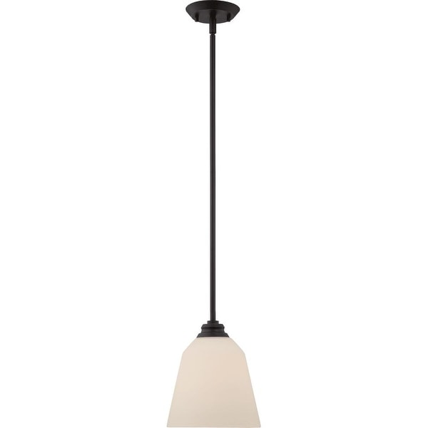 "Nuvo Lighting 62/372 1-Light 8"" Wide LED Mini Pendant - Mahogany Bronze"