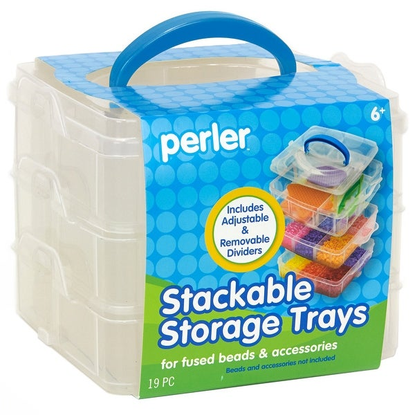 Perler Square Stackable Storage-