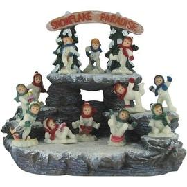 Snowflake Paradise 25 Piece Collectible Winter Figurine Set