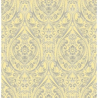 Brewster 1014-001868 Gypsy Yellow Damask Wallpaper
