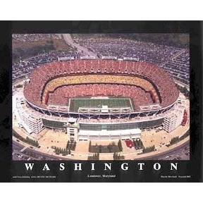''FedEx Field - Landover, Maryland (Washington Redskins)'' by Mike Smith Sports/Games Art Print (22 x 28 in.)