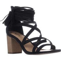 XOXO Elle Block-Heel Ankle-Strap Sandals, Black
