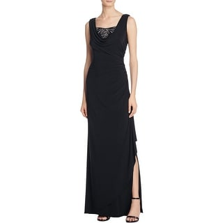 Adrianna Papell Womens Evening Dress Matte Jersey Ruched
