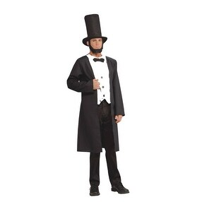 Abraham Lincoln President Adult Mens Halloween Costume - standard - one size