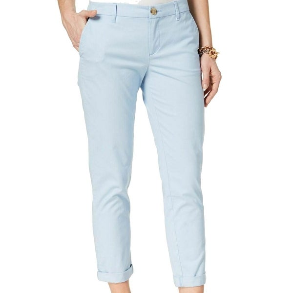 best website official images on wholesale Tommy Hilfiger Blue Womens Size 2 Hampton Chinos Stretch Pants