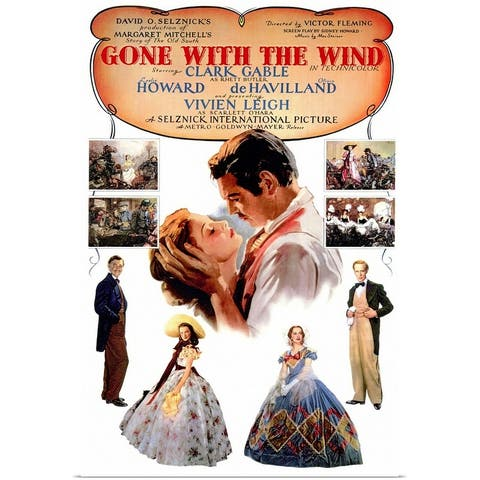 """""""Gone With The Wind (1939)"""" Poster Print"""