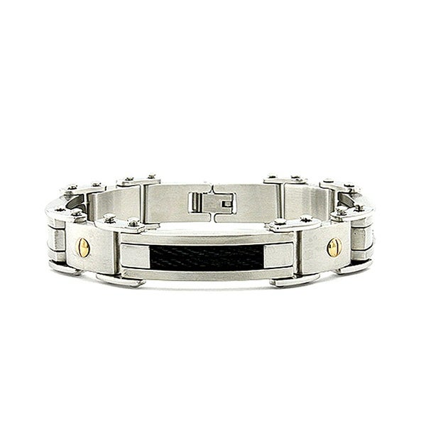 Stainless Steel Men's Cable Link Bracelet - 8.5 Inches