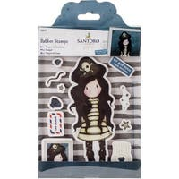 Gorjuss Santoro Rubber Stamp-Piracy