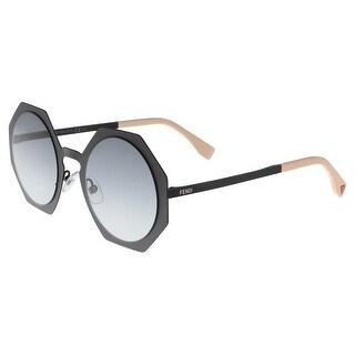 Fendi FF0152S 003 Matte Black Geometric Sunglasses