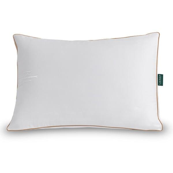 Lauren Ralph Lauren Lawton Firm Density Pillow - White/Camel Cord. Opens flyout.