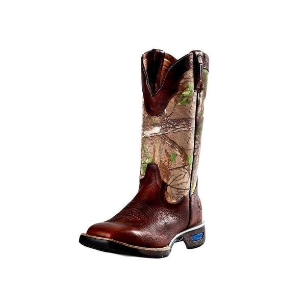 Cinch Work Boots Mens WRX Rubber Sole Real Tree Camo