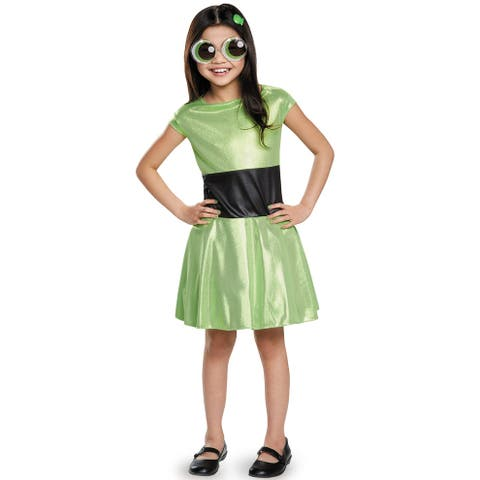 Disguise Buttercup Classic Child Costume - Green/Black