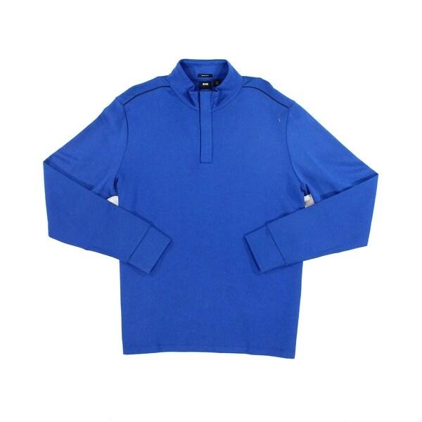 ae289791 Shop Hugo Boss NEW Royal Blue Mens Size 2XL 1/2 Zip Regular Fit ...