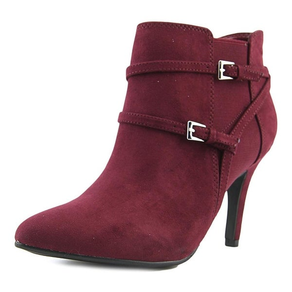 Style & Co Zoeyy Women Pointed Toe Suede Burgundy Bootie