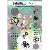 """IndigoBlu Cling Mounted Stamp 9.25""""X6.25""""-Limor Circles"""