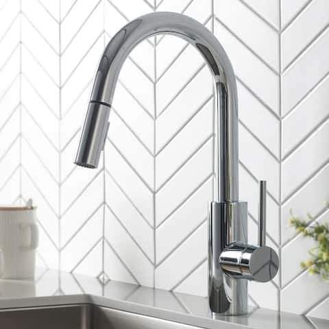 Kraus Oletto 2-Function 1-Handle 1-Hole Pulldown Kitchen Faucet