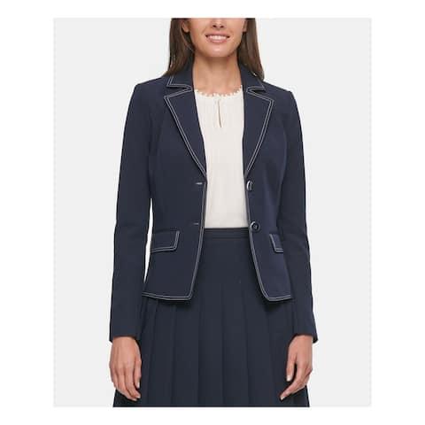 TOMMY HILFIGER Womens Blue Blazer Wear to Work Jacket Size 6