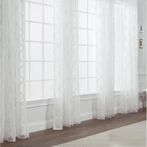 Chanasya Moroccan Sheer Window Curtain Panel Pair
