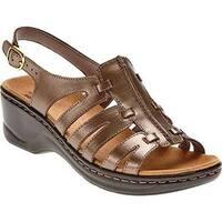 Clarks Women's Lexi Marigold Sandal Pewter Leather