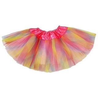 Baby Girls Pastel Rainbow Satin Elastic Waist Ballet Tutu Skirt 0-12M