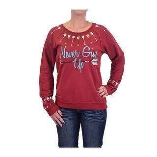 Cowgirl Tuff Western Sweatshirt Womens Arrows Burnout Red H00461