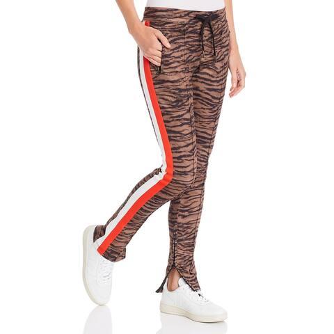 Pam & Gela Womens Track Pants Fitness Yoga - Natural