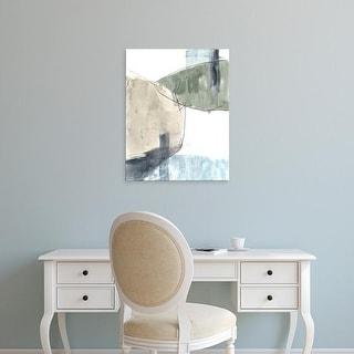 Easy Art Prints Jennifer Goldberger's 'Verdant Divide II' Premium Canvas Art