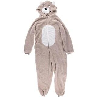 Just Love Womens Fleece Teddy Bear Union Suit - L