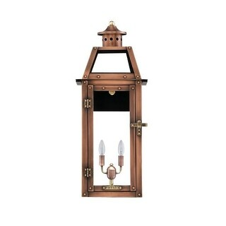 """Primo Lanterns BV-25E Bienville 16"""" Wide 2 Light Outdoor Wall-Mounted Lantern in Electric Configuration"""