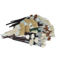 Sax Jumbo White Bristle Short Handle Paint Brush Assortment, Assorted Size, Pack of 72