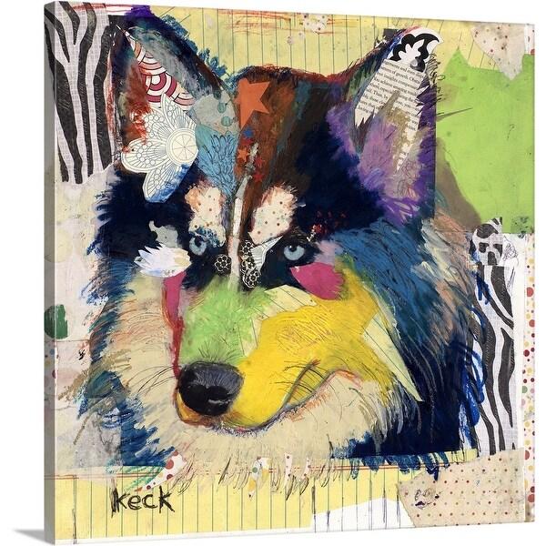 """Siberian Husky"" Canvas Wall Art"