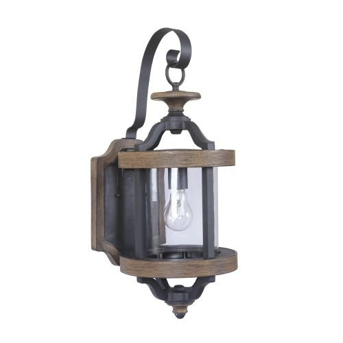 "Craftmade Z7914 Ashwood 22.5"" 1 Light Outdoor Wall Sconce"