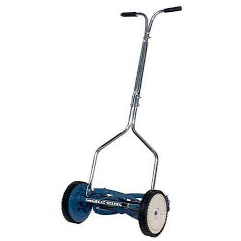 Great States 14in. Deluxe Hand Reel Push Lawn Mower 204-14